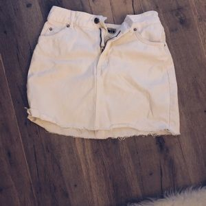 Top Shop White Jean Skirt